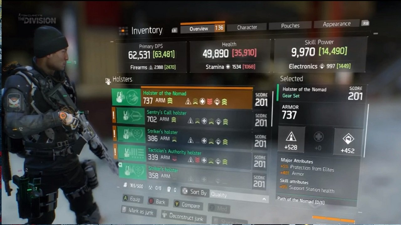 The Division, Incursions, Gear Sets