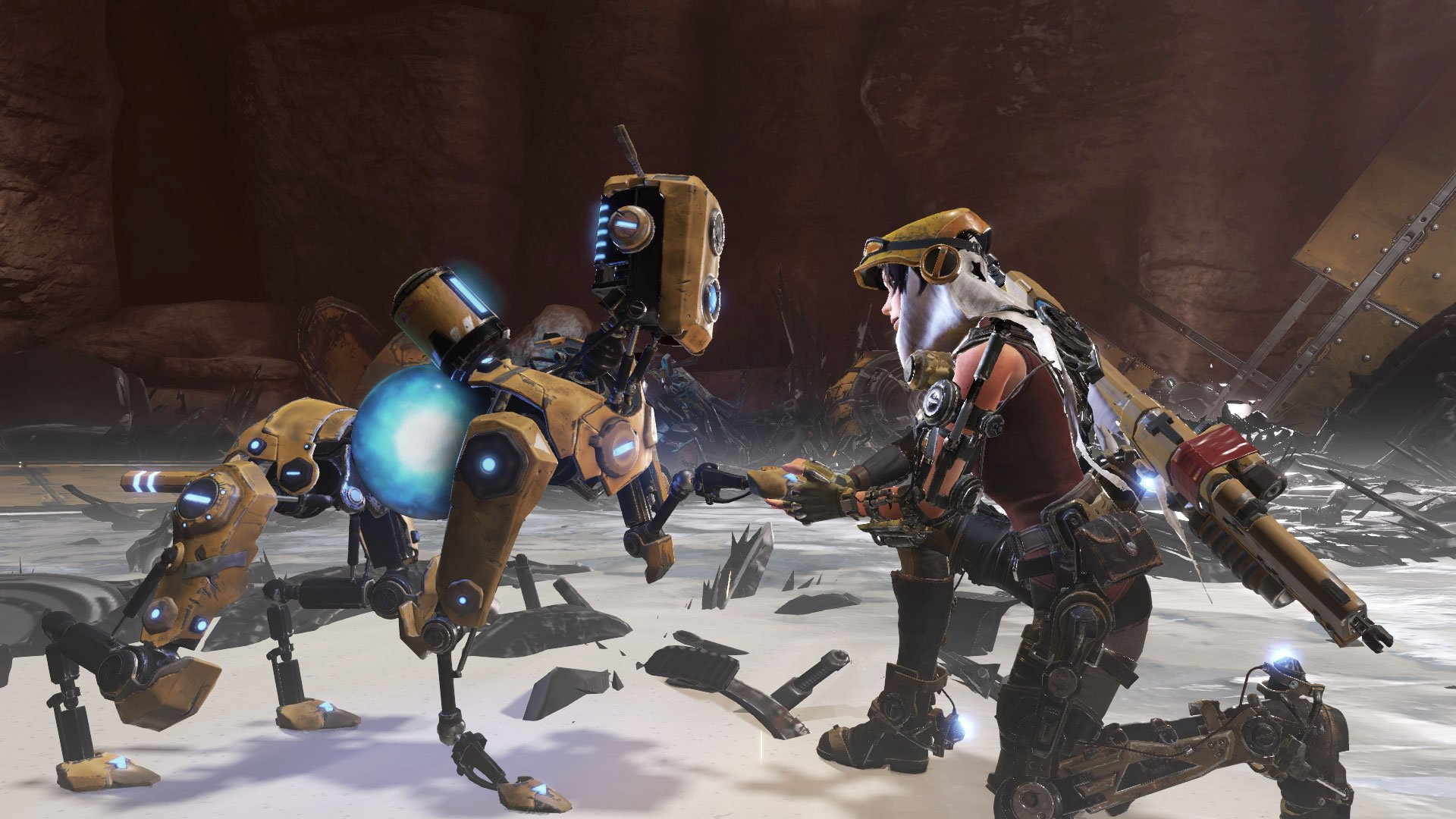Joule and Mack Interacting ReCore