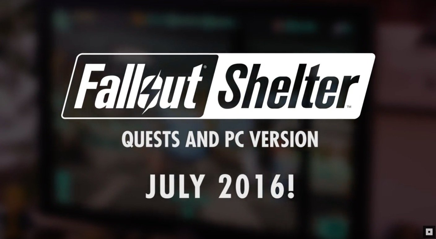 Fallout Shelter PC Quests Update