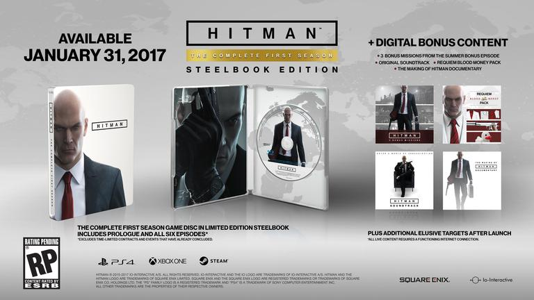 Hitman steel book retail release
