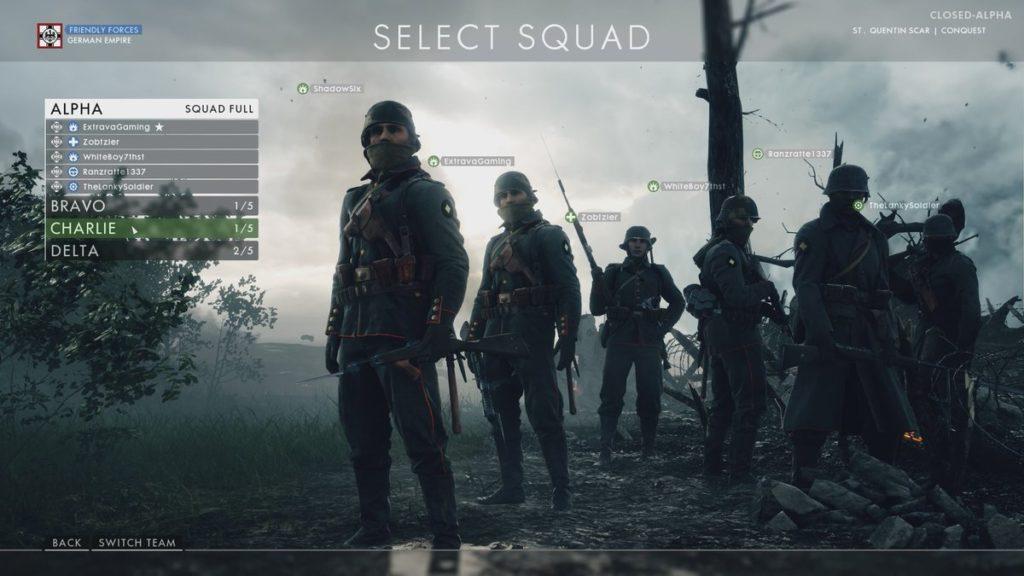 Battlefield 1 Squad
