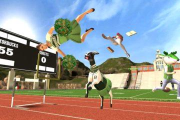 Goat Simulator cheerleader