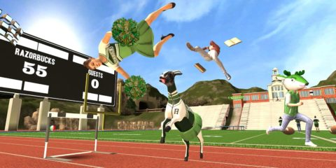 Goat Simulator cheerleader