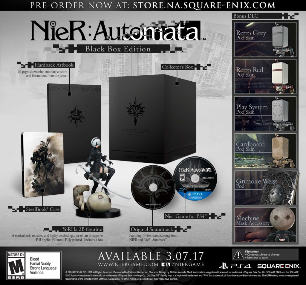 Automata release date revealed as March 10 — Nier