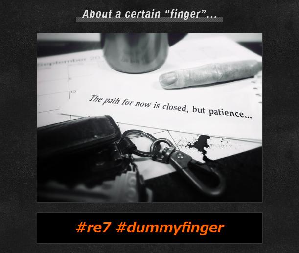 Resident Evil Dummy Finger