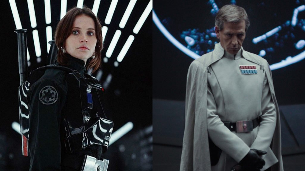 Rogue One Jyn Erso and Director Orson Krennic