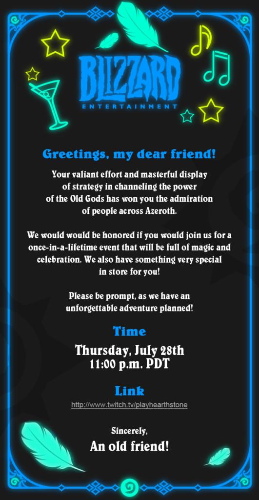 Hearthstone invite