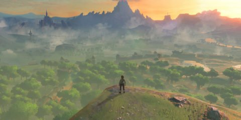 The Legend of Zelda Breath of the Wild cliff