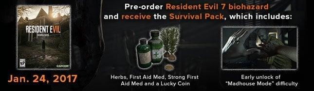 Resident Evil 7 Survival Bonus